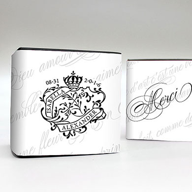 Parisian Love Letter Wedding Favour Box Wrap