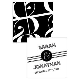 Black White Wedding Square Tag