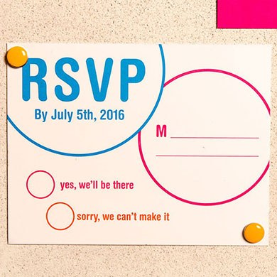 Retro Pop Wedding RSVP