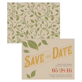 Vineyard Wedding Save The Date Card