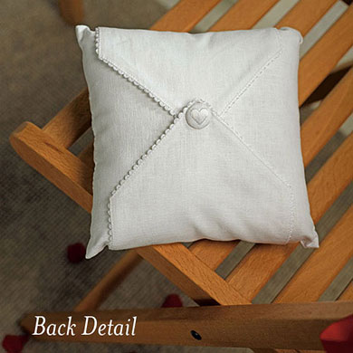 Simply Sweet Personalized Vineyard Monogram Ring Pillow
