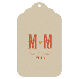 Vineyard Wedding Die-Cut Merchandise Tag