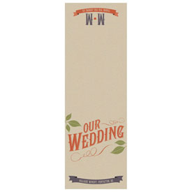 Vineyard Wedding Folded Program Cover