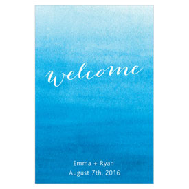 Aqueous Wedding Large Rectangular Tag
