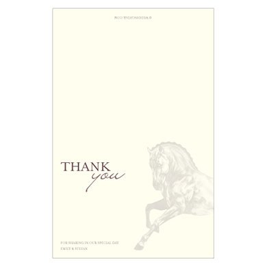 Equestrian Love Wedding Thank You Card
