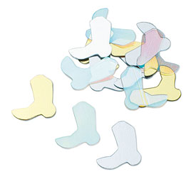 Wedding Reception Cowboy Boots Confetti