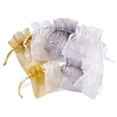 Large Rectangular Organza Favor Bags