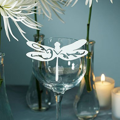 Laser Cut Dragonfly Wedding Cards