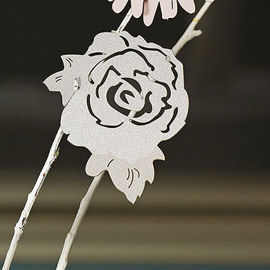 Laser Cut Begonia Wedding Cards