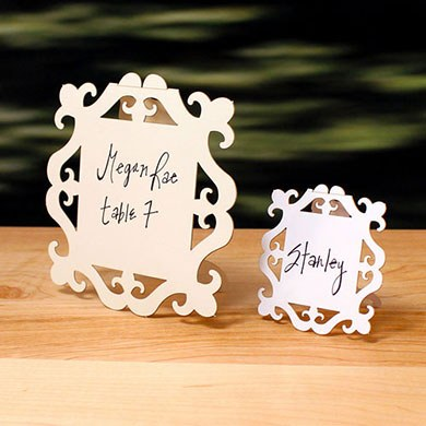 Laser Cut Large Square Baroque Frame Wedding Sign