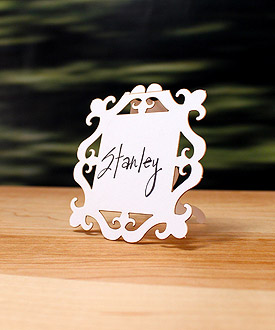 Laser Cut Square Baroque Frame Wedding Sign