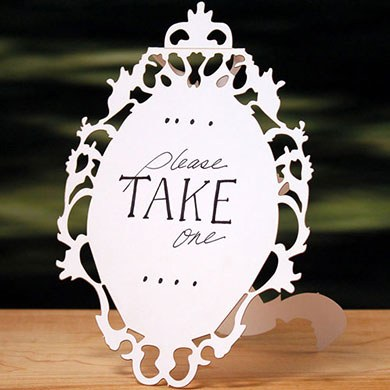 Laser Cut Large Oval Baroque Frame Wedding Sign
