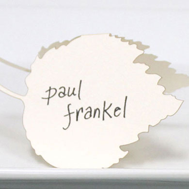 Laser Cut Leaf Wedding Place Card