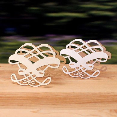 Laser Expressions Infinite Heart  Wedding Folded Place Card