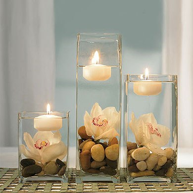 Colored Floating Wedding Candles