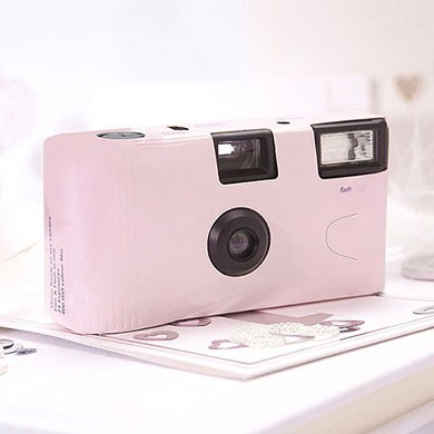 Pink Disposable Camera