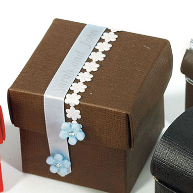 Chocolate Brown Wedding Favor Boxes