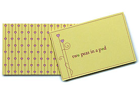 Two Peas in a Pod Novelty Wedding Favor Tags