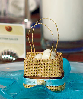 Natural Miniature Woven Wedding Beach Favor Bags