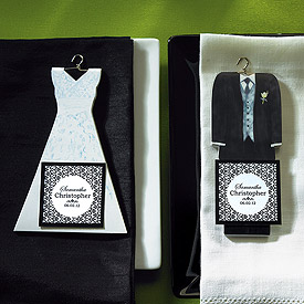 Bride and Groom Wedding Favor Notepads