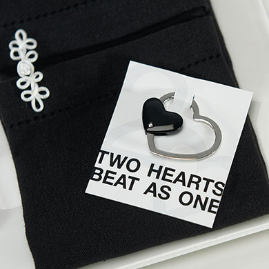 wedding heart key holder favor
