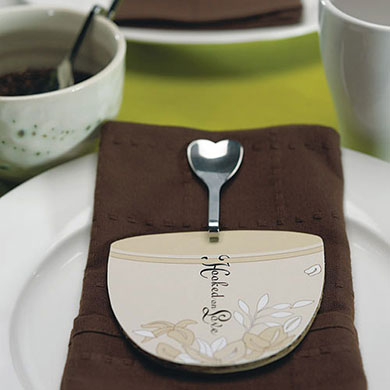 Bending Heart Wedding Favor Spoon
