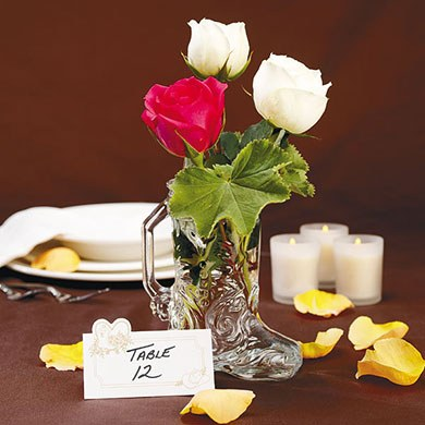 Western Boot Shaped Wedding Favor Glasses