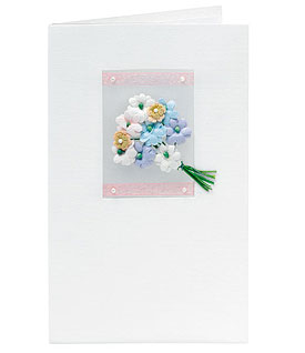 Three Dimensional Bouquet Handmade Wedding Greeting Card