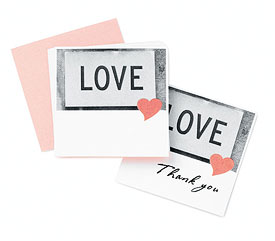 Love Heart Wedding Favor and Place Cards