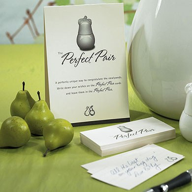 Perfect Pair Wish Card Wedding Guestbook Kit