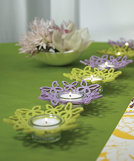 Felt Butterfly Ring Wedding Favor Candle Holders