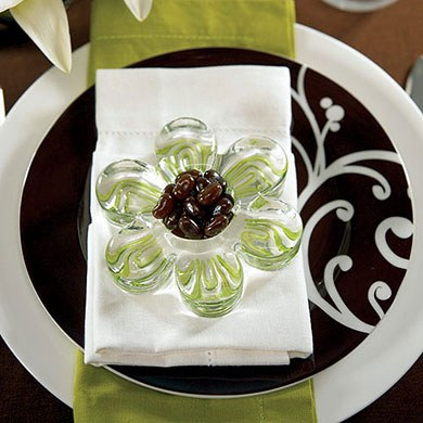 Glass Flower Wedding Favor Holders