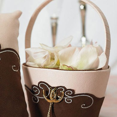 Ceremony Accessory Flower Girl Basket in Vintage Western