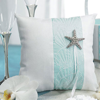 Seaside Allure Wedding Ceremony Ring Pillow