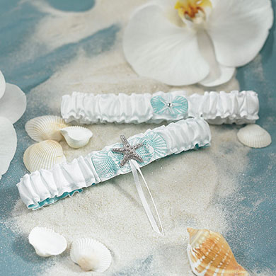 Seaside Allure Bridal Garter Set