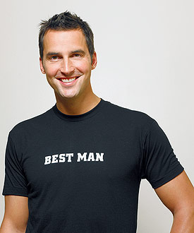 Best Man Wedding Iron on Bridal Party Apparel