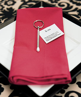 The Perfect Match Wedding Favor Key chain Pens