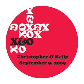 XOXO Wedding Favor Stickers
