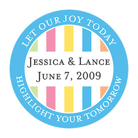Highlight Striped Wedding Stationery Stickers