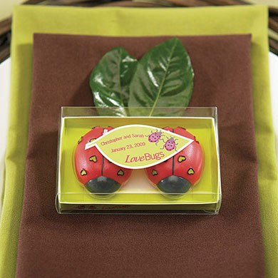 Cute Love Bugs wedding favor Stickers