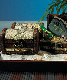 treasure chest wedding favor
