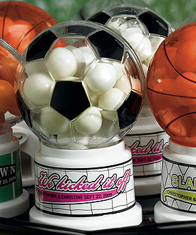 Soccer Theme Miniature Sports Wedding Favor Gumball Machine