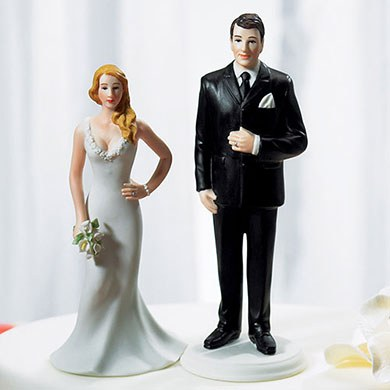 Curvy and Burly Wedding Cake Toppers