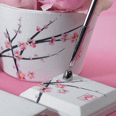 Cherry Blossom Wedding Reception Pen Set
