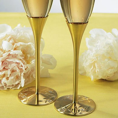 Venice Gold Wedding Toasting Flutes