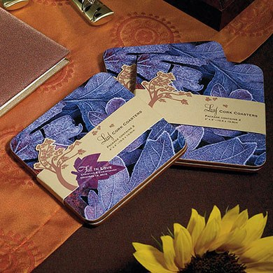 Fall in Love Coaster Gift Set Wedding Favor