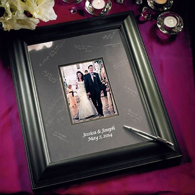 Wedding Reception Framed Inscribable Signature Keepsake Mat Kit