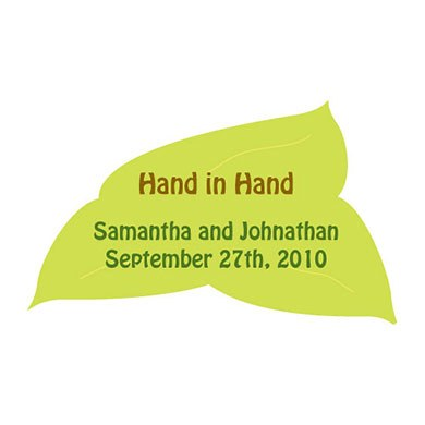 Hand in Hand Wedding Favor Stickers