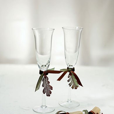Autumn Splendor Toasting Flutes Set