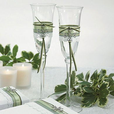Celtic Charm Wedding Reception Toasting Flute Set
